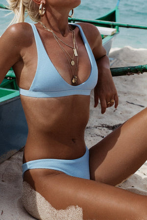 Light Blue Low Waisted Bikini Bottom