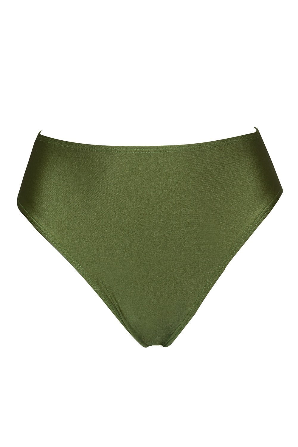 Dark Olive Green High Leg Bikini Bottom (2178786787387)