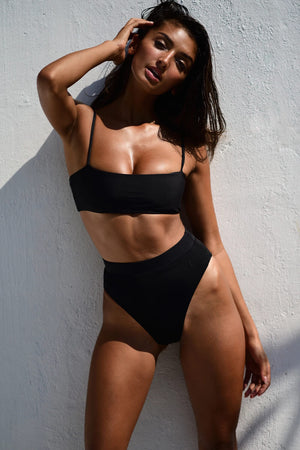 Black High Waist Bikini Bottom (2180796022843)