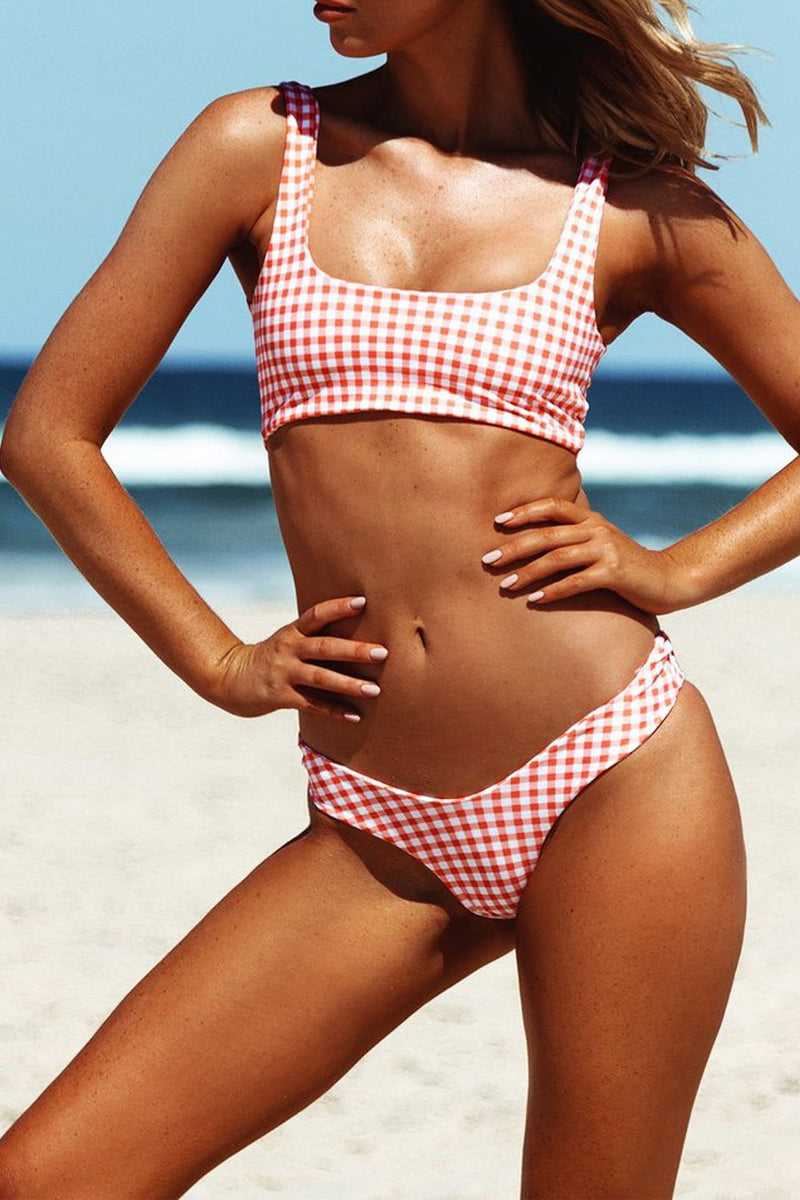 Red Gingham Bikini Bottom (2190538440763)