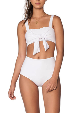 White High Waist Back Cut Out Bikini Bottom (2190538702907)