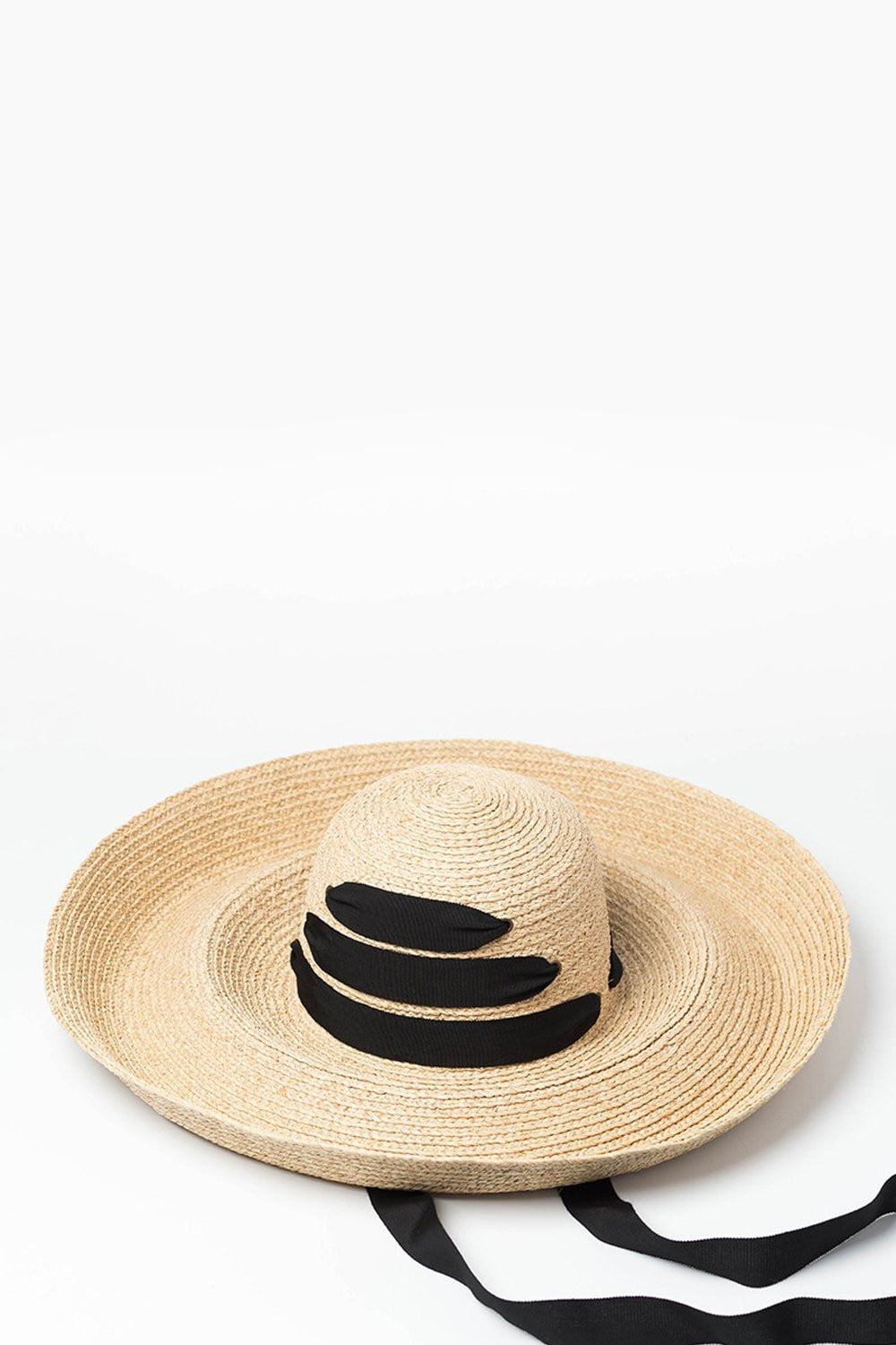 381b21770f2fa Raffia Straw Curved Brim Sun Hat With Chin Tie – FloralKini