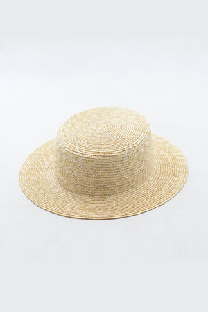 Wheat Straw Flat Boater (2207889784891)