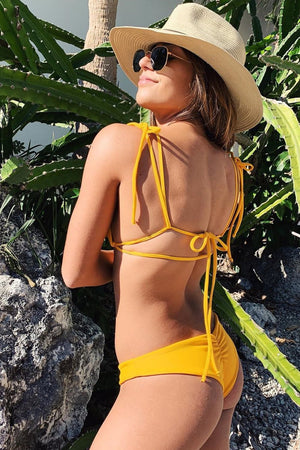 Mango Scrunch High Leg Bikini Bottom (2255644753979)