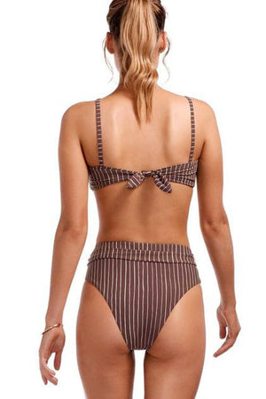 Cigar Striped Tie Waist Bikini Bottom (2267783725115)