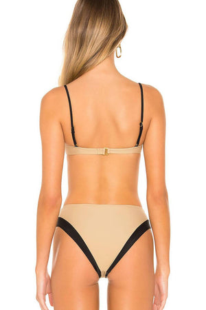 Nude & Black High Waisted Bikini Bottom (4319709528123)