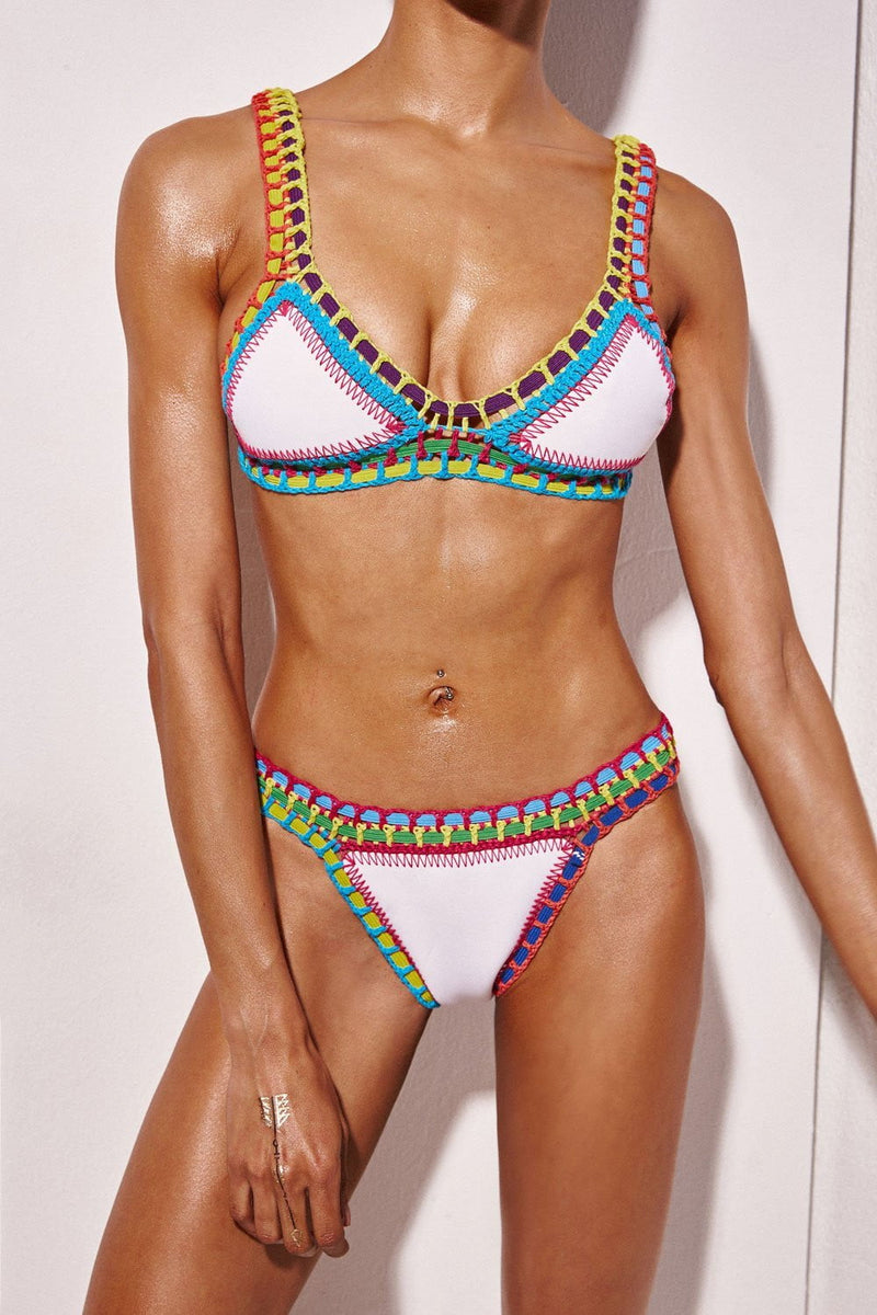Handmade Crochet Reversible Triangle Bikini Top