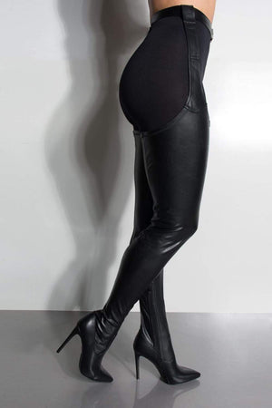 Black Belted Thigh High Boots (2335397576763)