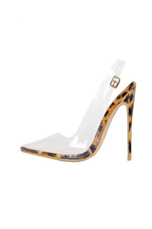 Leopard Clear Buckle Slingback Court Shoes (4095663603771)