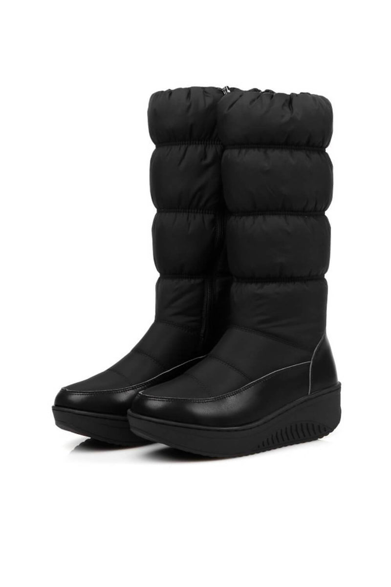 Black Snow Mid-Calf Boots (4110248509499)