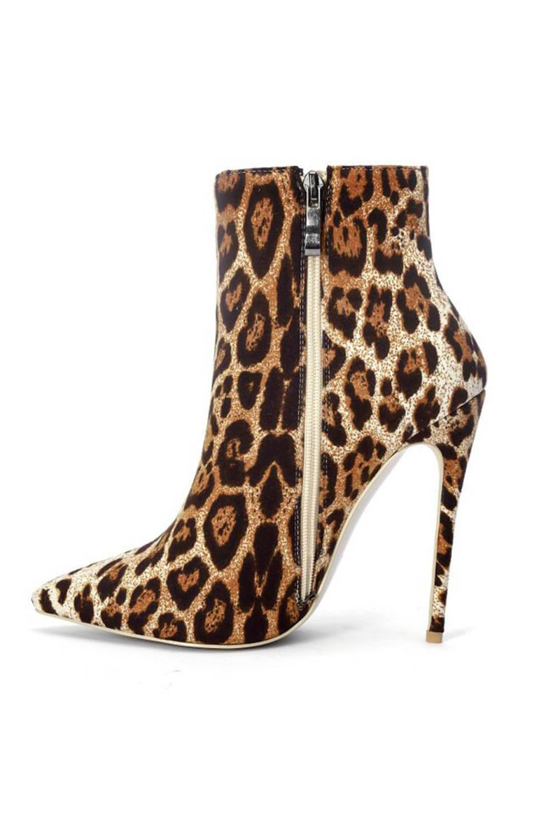 Leopard Pointed Stiletto Heel Ankle Boots (4258898706491)