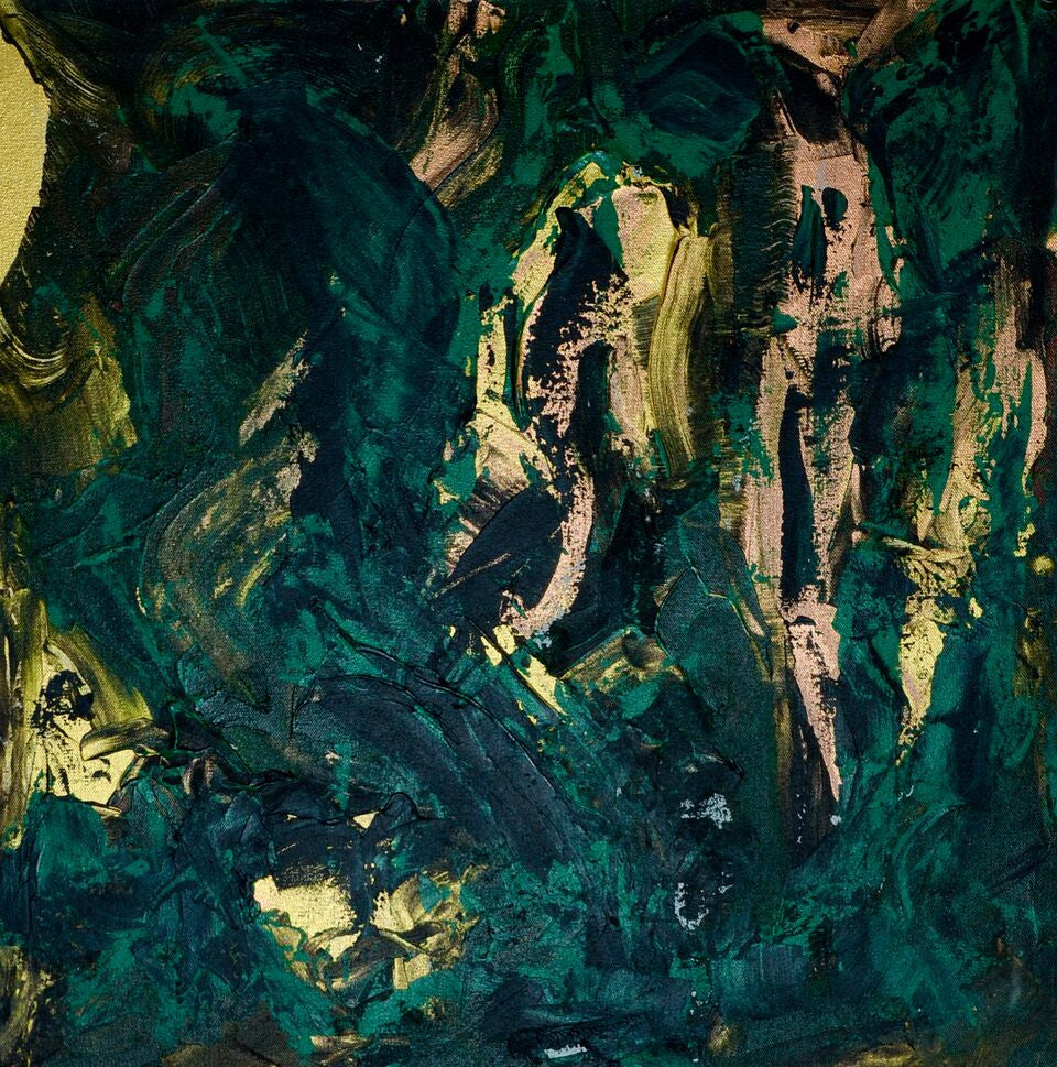 Green Granite Abstract 24x24