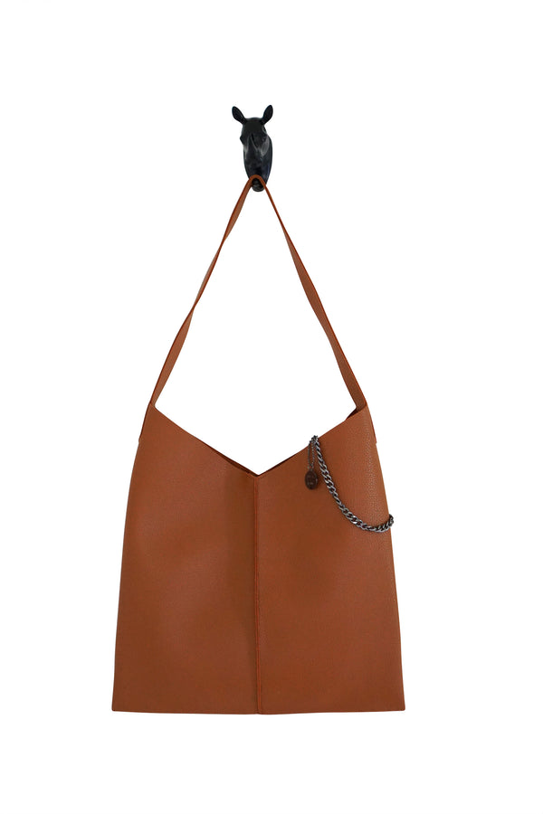 Kesa + Konc Vegan Leather Tan Talin Tote Bag