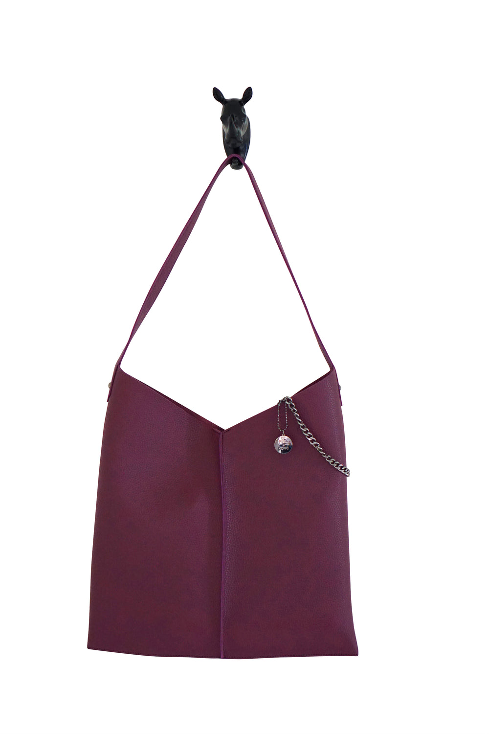 Kesa + Konc Vegan Leather Plum Tote Bag