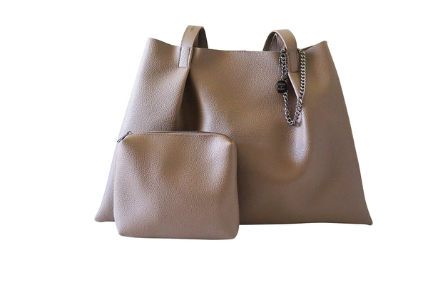 Kesa + Konc Vegan Leather Shoulder Bag / Miha / Sage