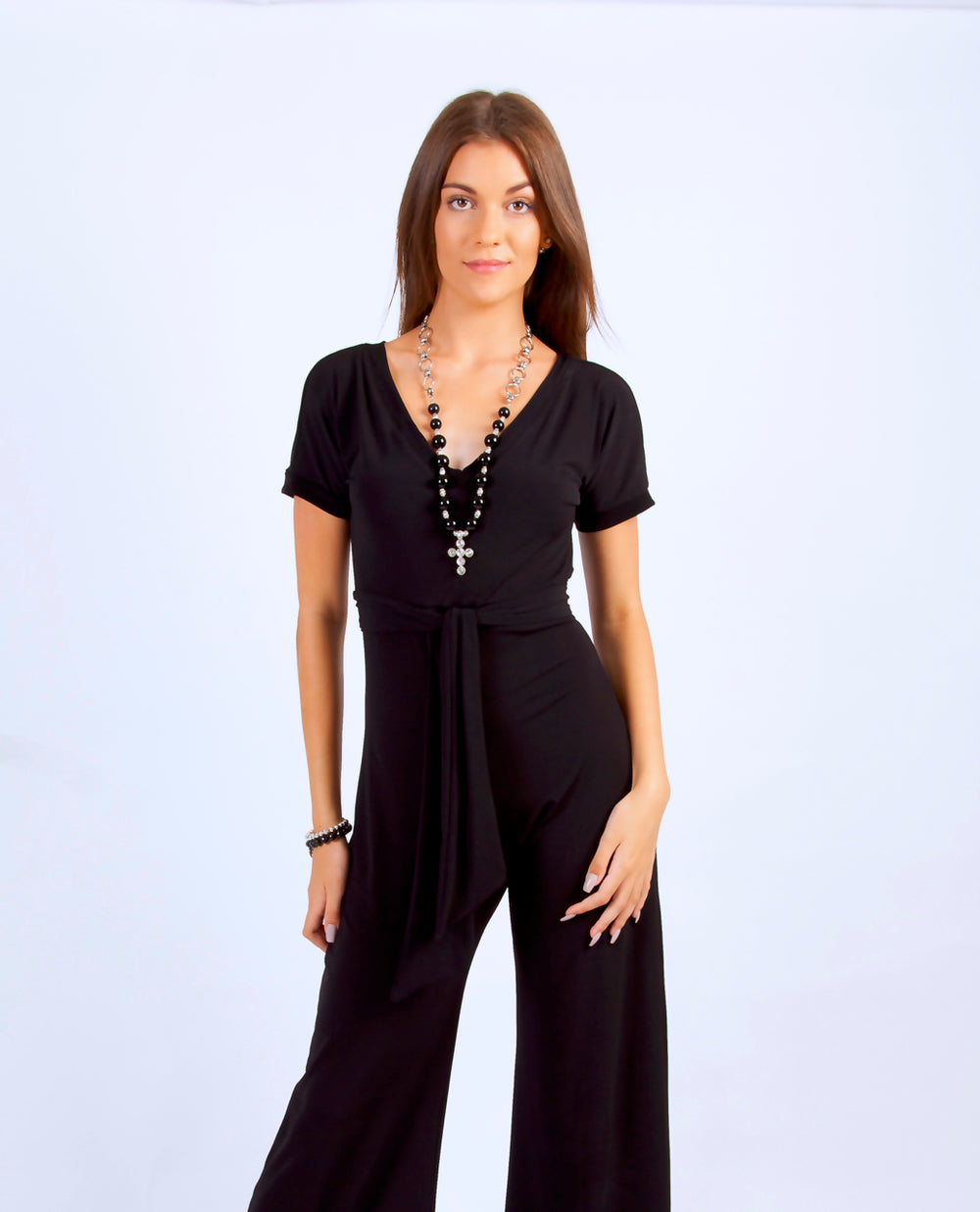 "Why Mary ""Reval"" Collection Black Jumpsuit"