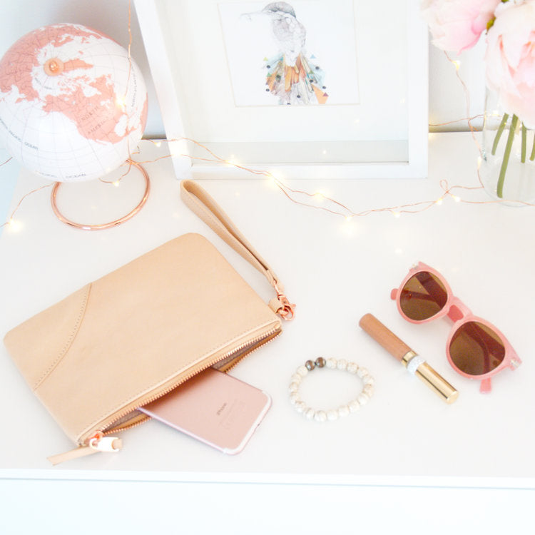 Kesa + Konc Classic Collection Pouch Fawn