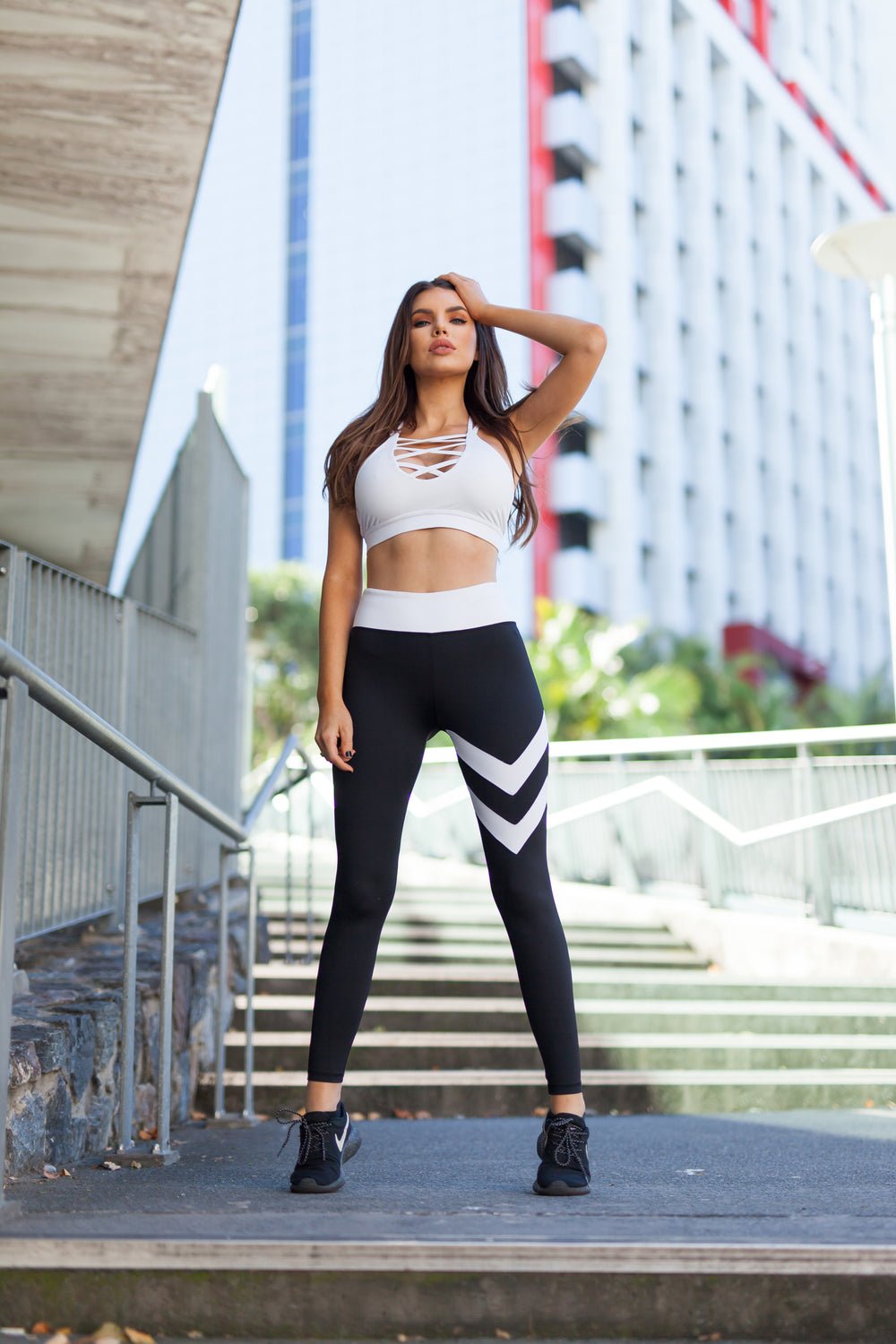 Physio.Fit.Co Double Down Leggings in Black