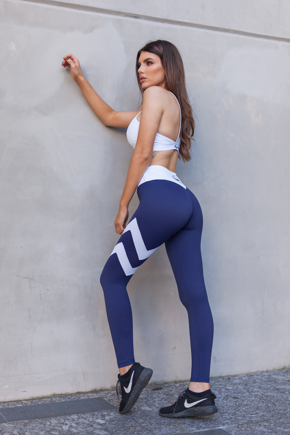 Physio.Fit.Co Double Down Leggings in Navy