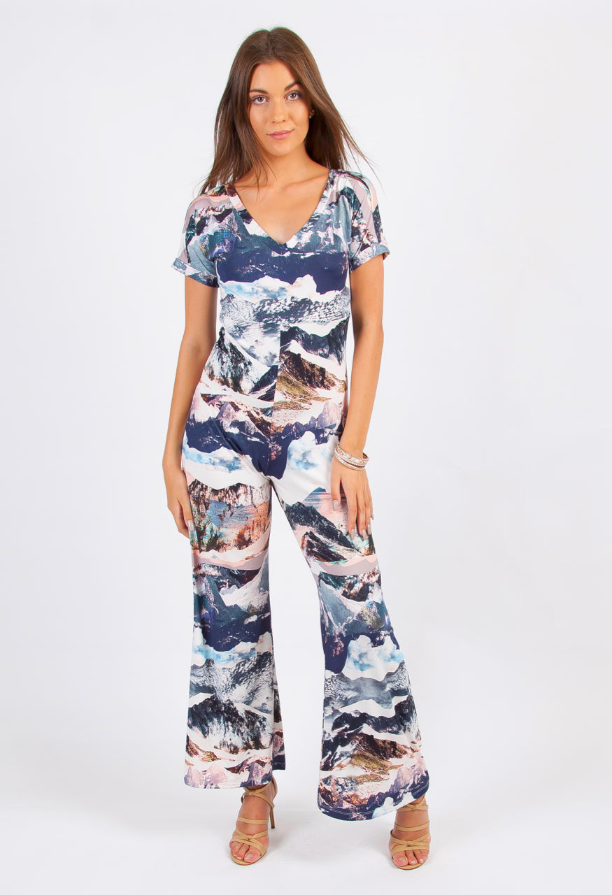 "Jumpsuit Women's ""Alpine"" Print Retro"