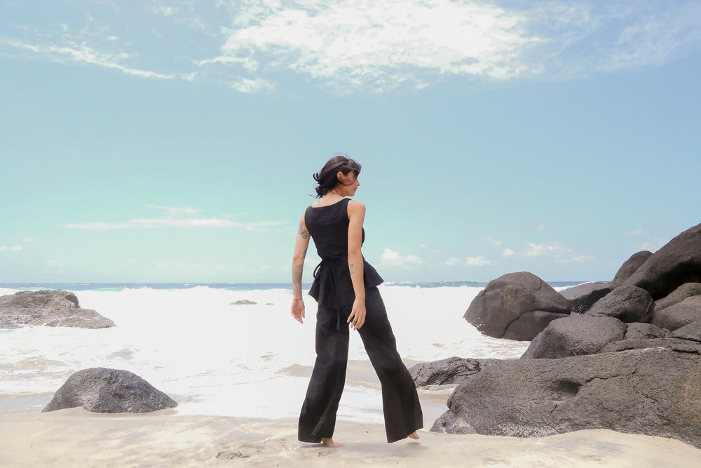 House of Camie - Oh Yup Trousers / Black Linen