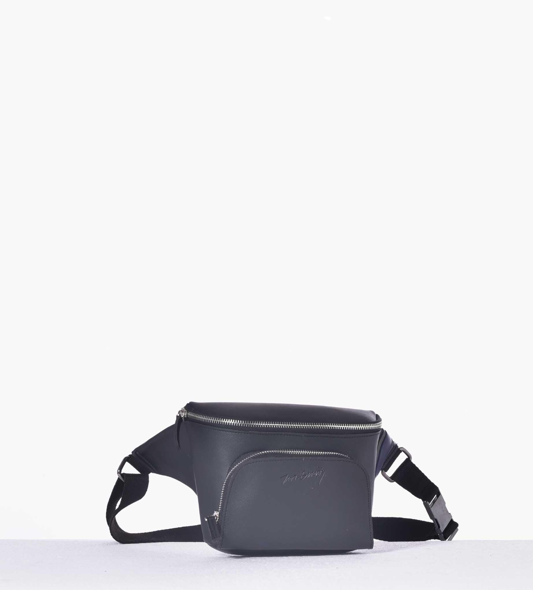Striped Black Belt Bag