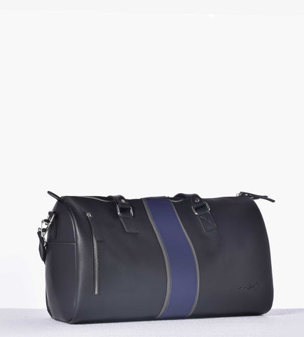 Black and Croc Duffle Bag