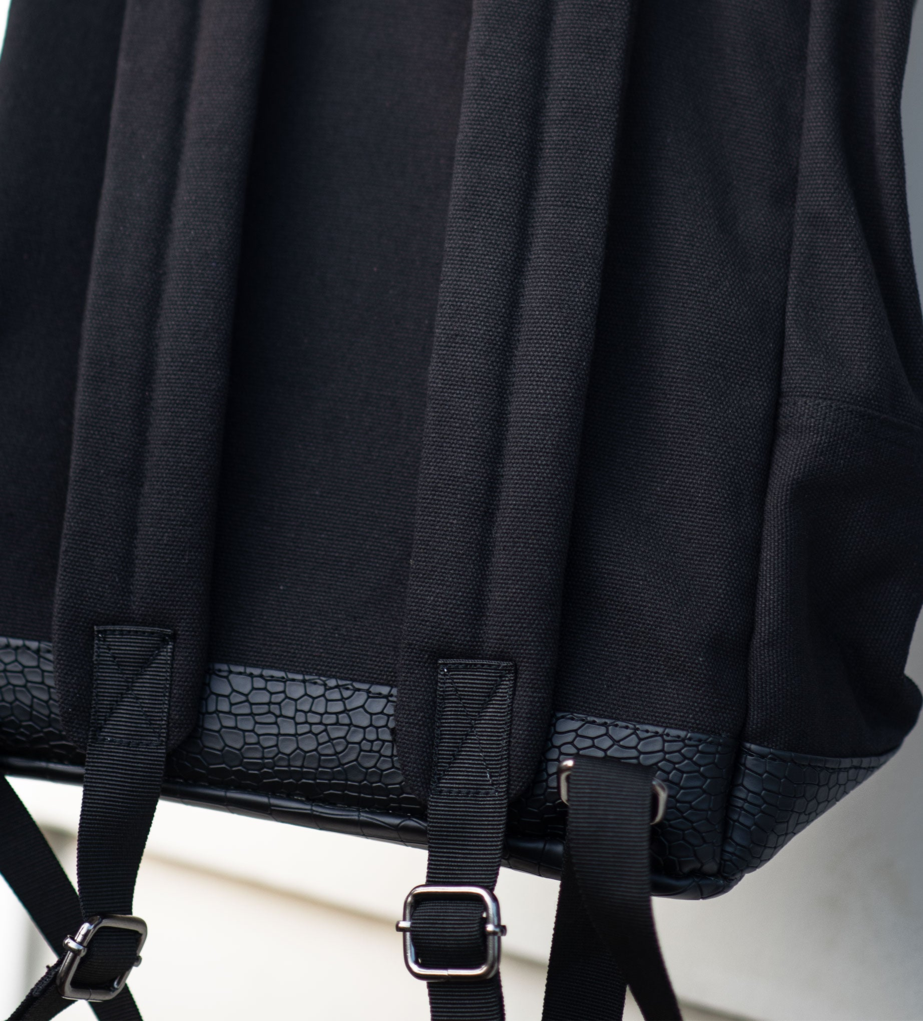 Black and Croc Rucksack