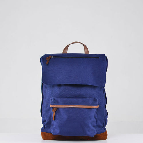 Navy and Suede Rucksack
