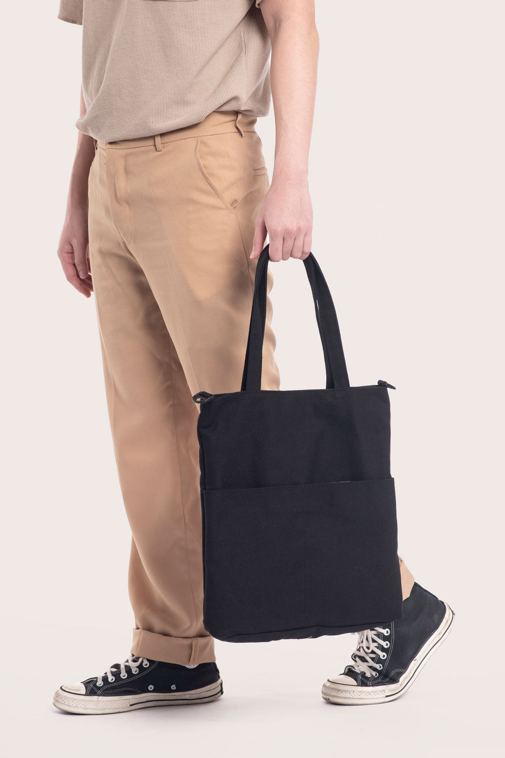 Black Daily Tote Bag