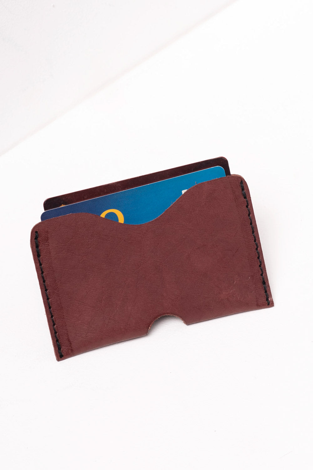 Maroon Leather Card Holder