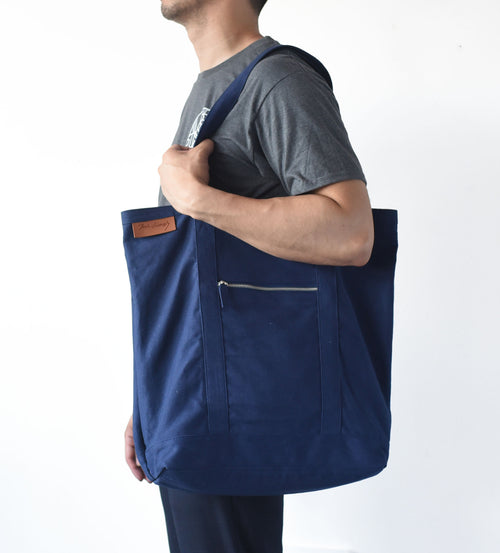 XL Navy Tote Bag