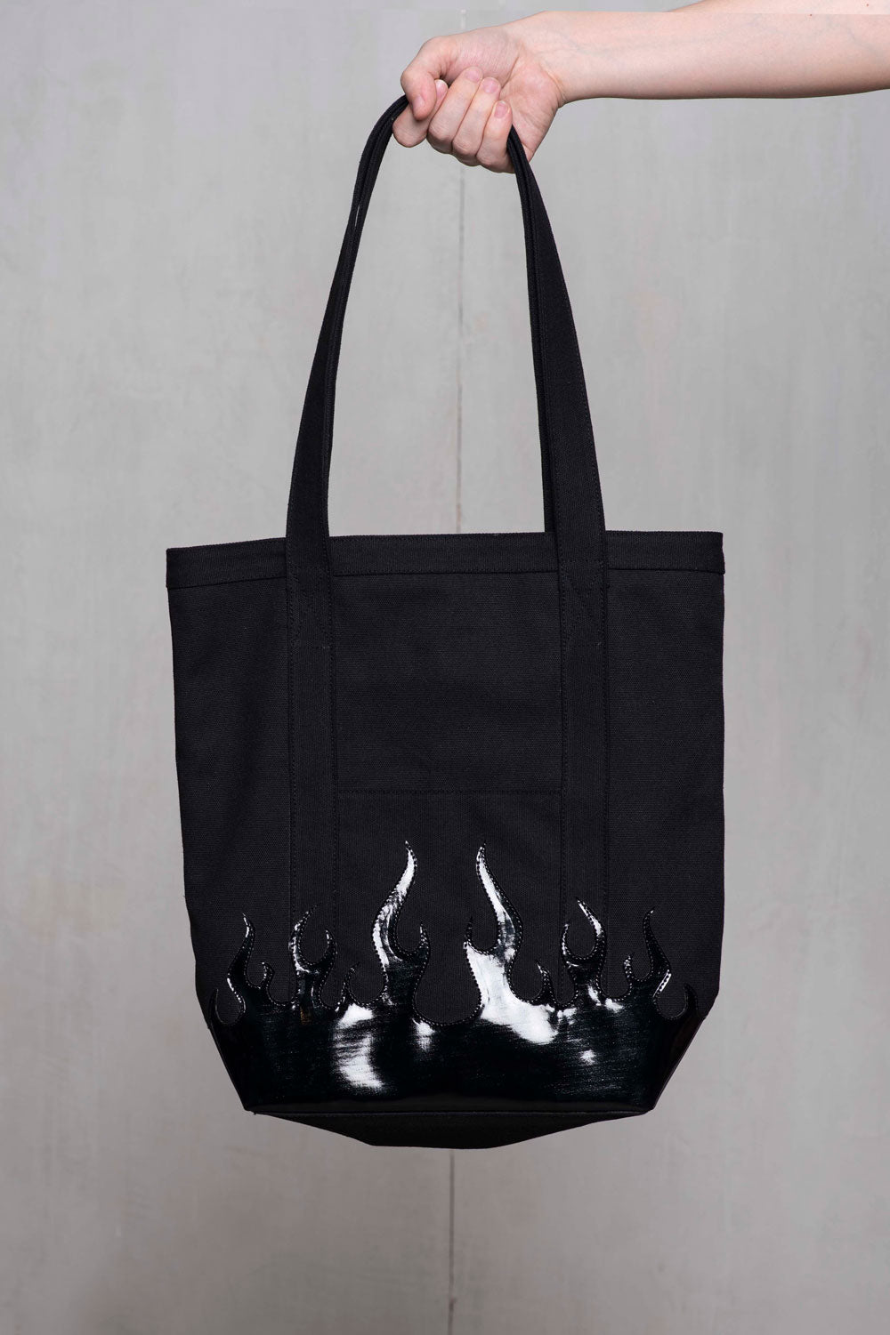 RANDOLF +ZG Black Flame Tote Bag