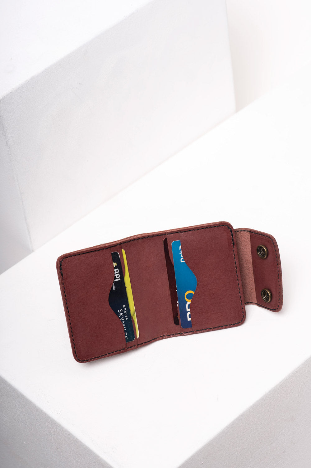 Tan Bifold Snap Wallet