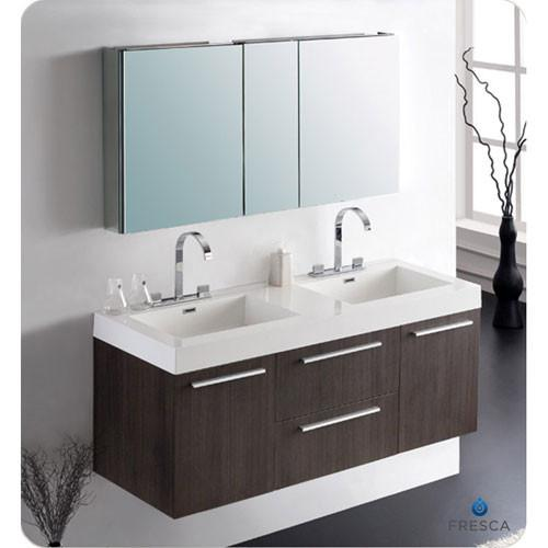 Bathroom Furniture Get Bathroom Vanities Storage Medicine - Fresca cristallino glass bathroom vanity