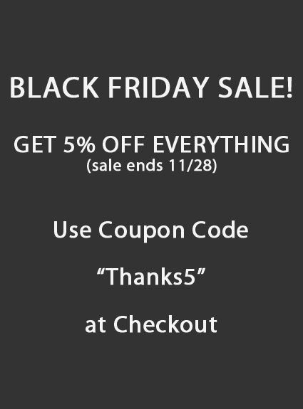 Limited time BLACK FRIDAY SALE!