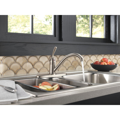 Delta Classic Stainless Steel Finish Single Handle Kitchen Sink Faucet D100SSDST