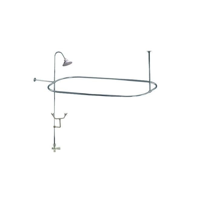 clawfoot tub shower enclosure kit. Chrome Clawfoot Tub Shower Conversion Kit with Enclosure Curtain Rod 10010C  Get a Claw Foot and Combo
