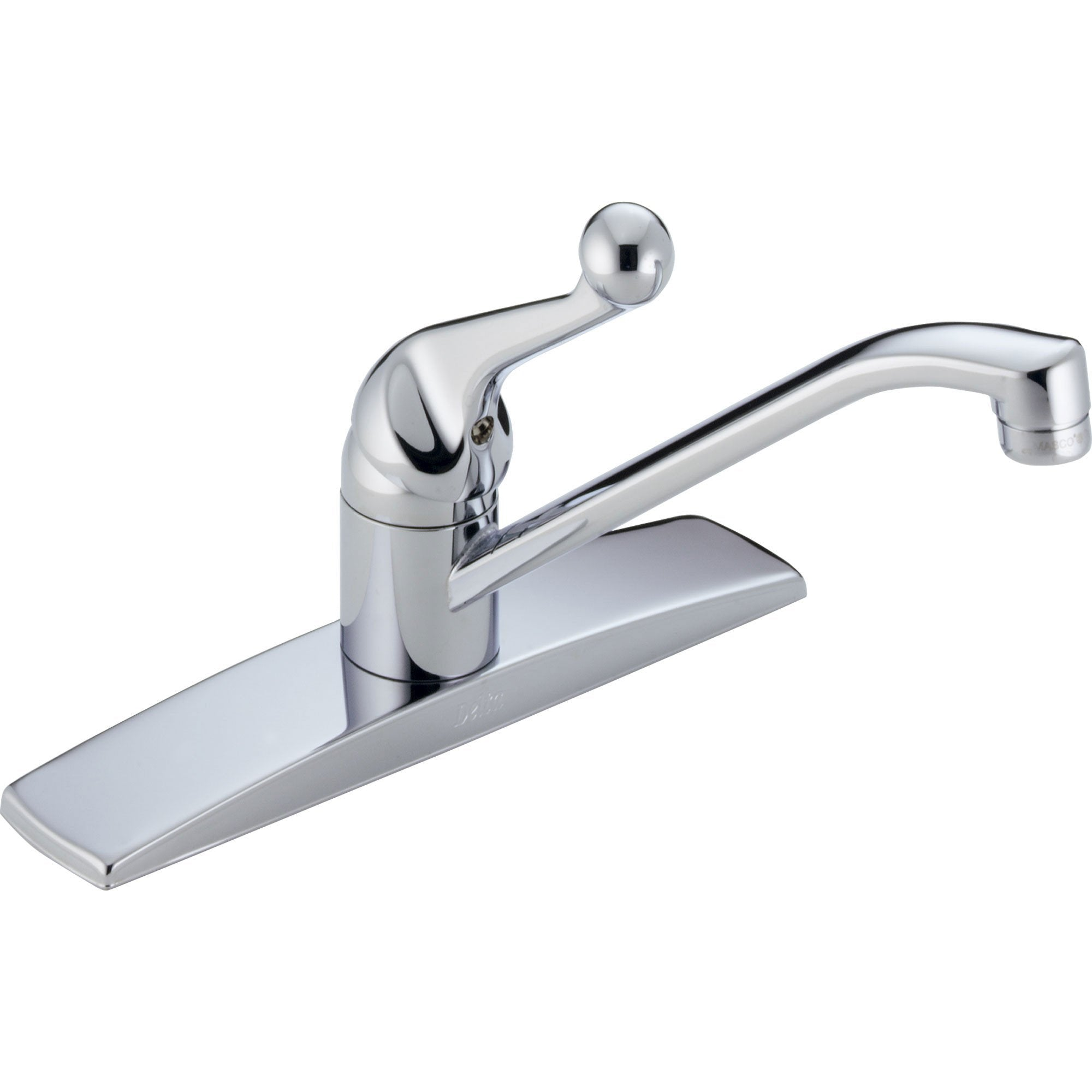 Delta Classic Standard Simple Single Handle Kitchen Faucet in Chrome 610434