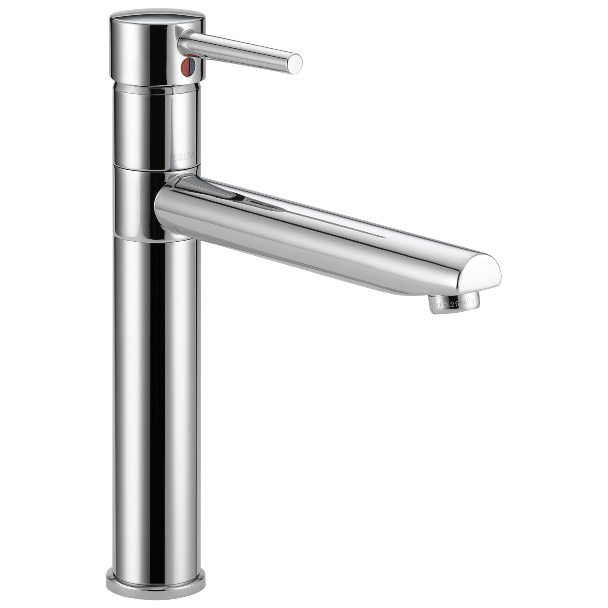 Delta Trinsic Collection Chrome Finish Kitchen Faucet with Swivel Spout and  Single Handle on Top 555956