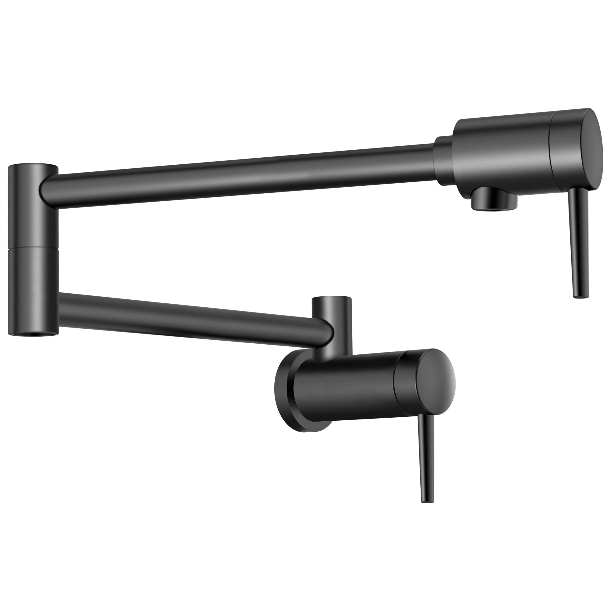 Delta Contemporary Matte Black Finish Contemporary Wall Mount Pot Filler Faucet D1165LFBL
