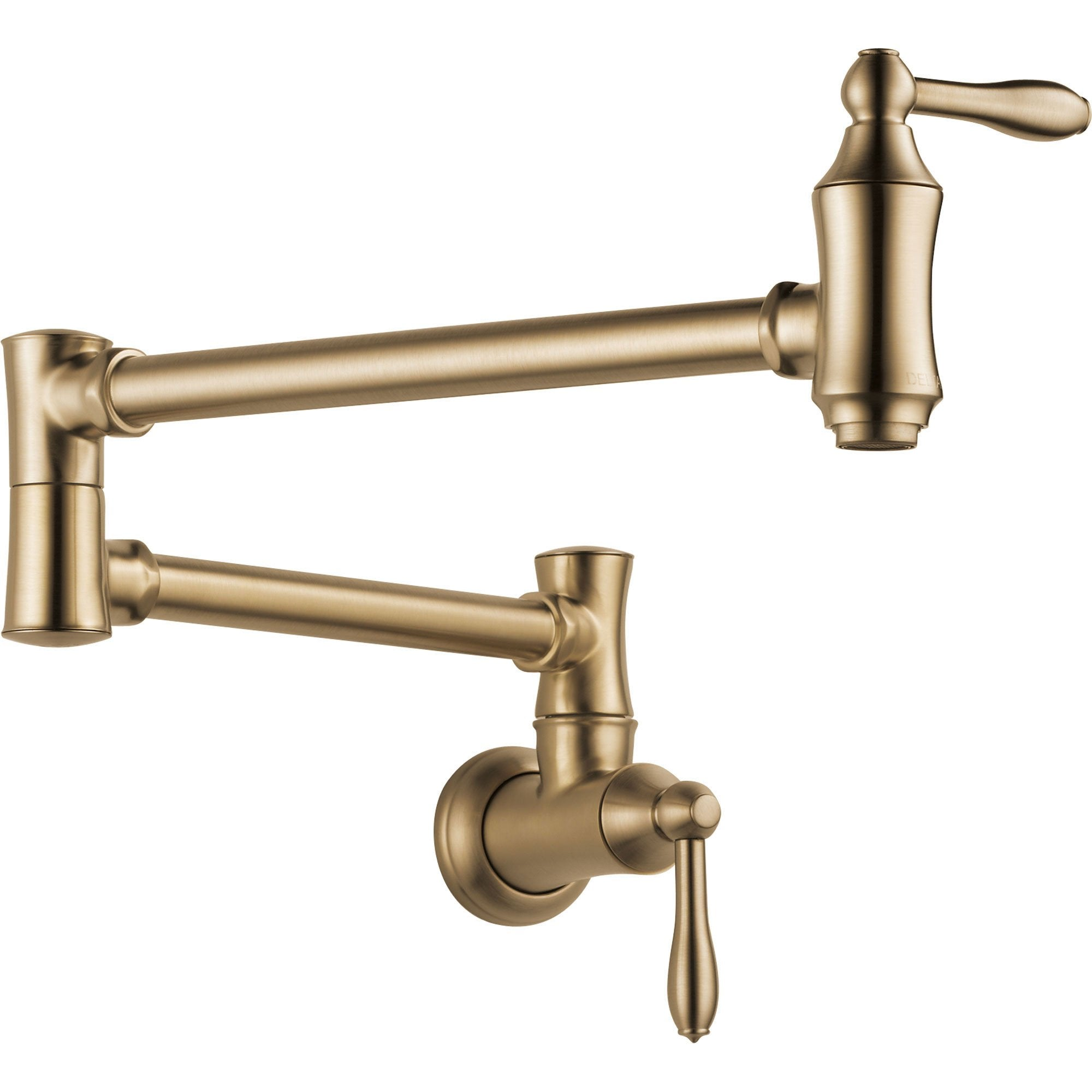 Delta Traditional Kitchen Wall Mounted Champagne Bronze Pot filler Faucet 628910