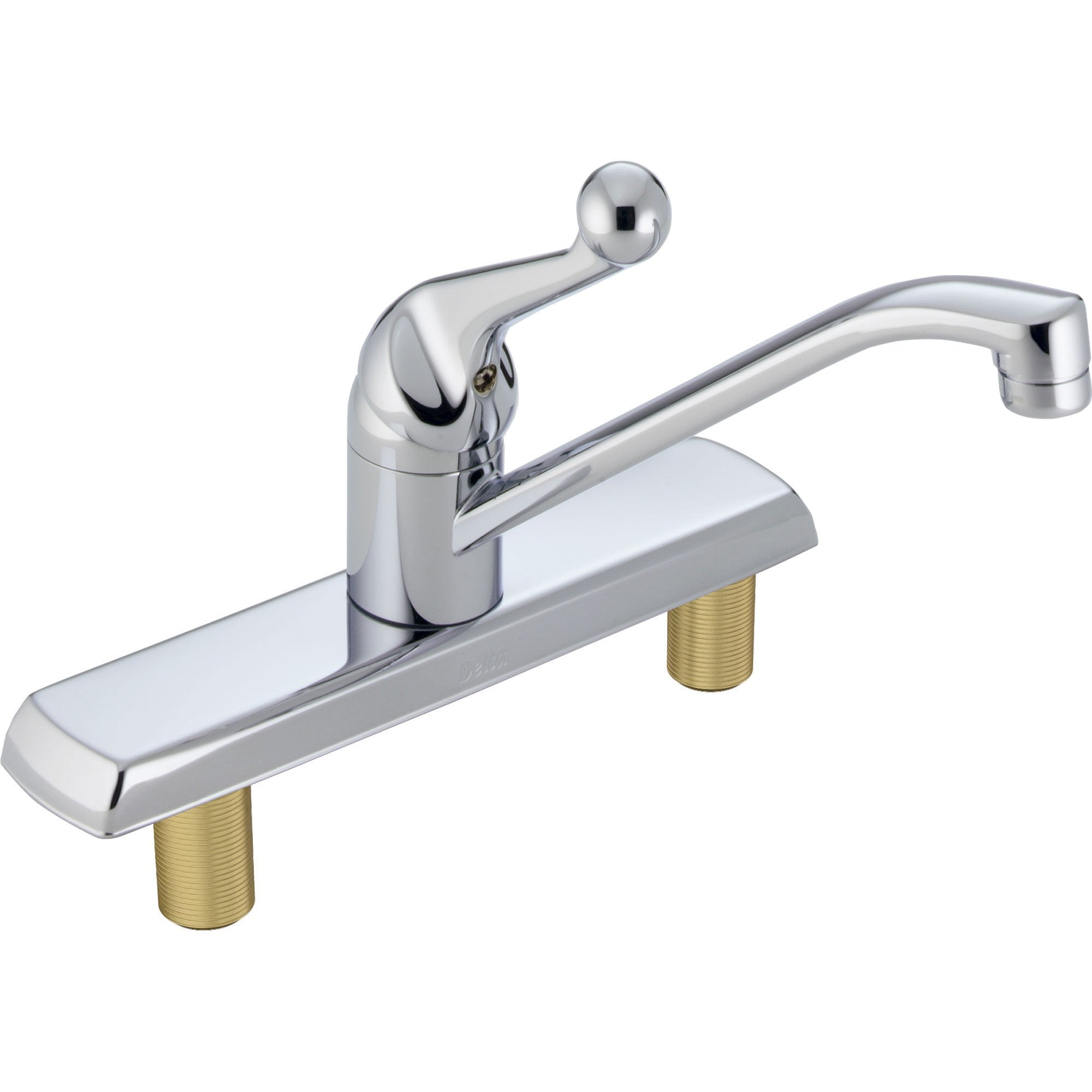 Delta Classic Standard Simple Chrome Single Handle Kitchen Faucet 614836