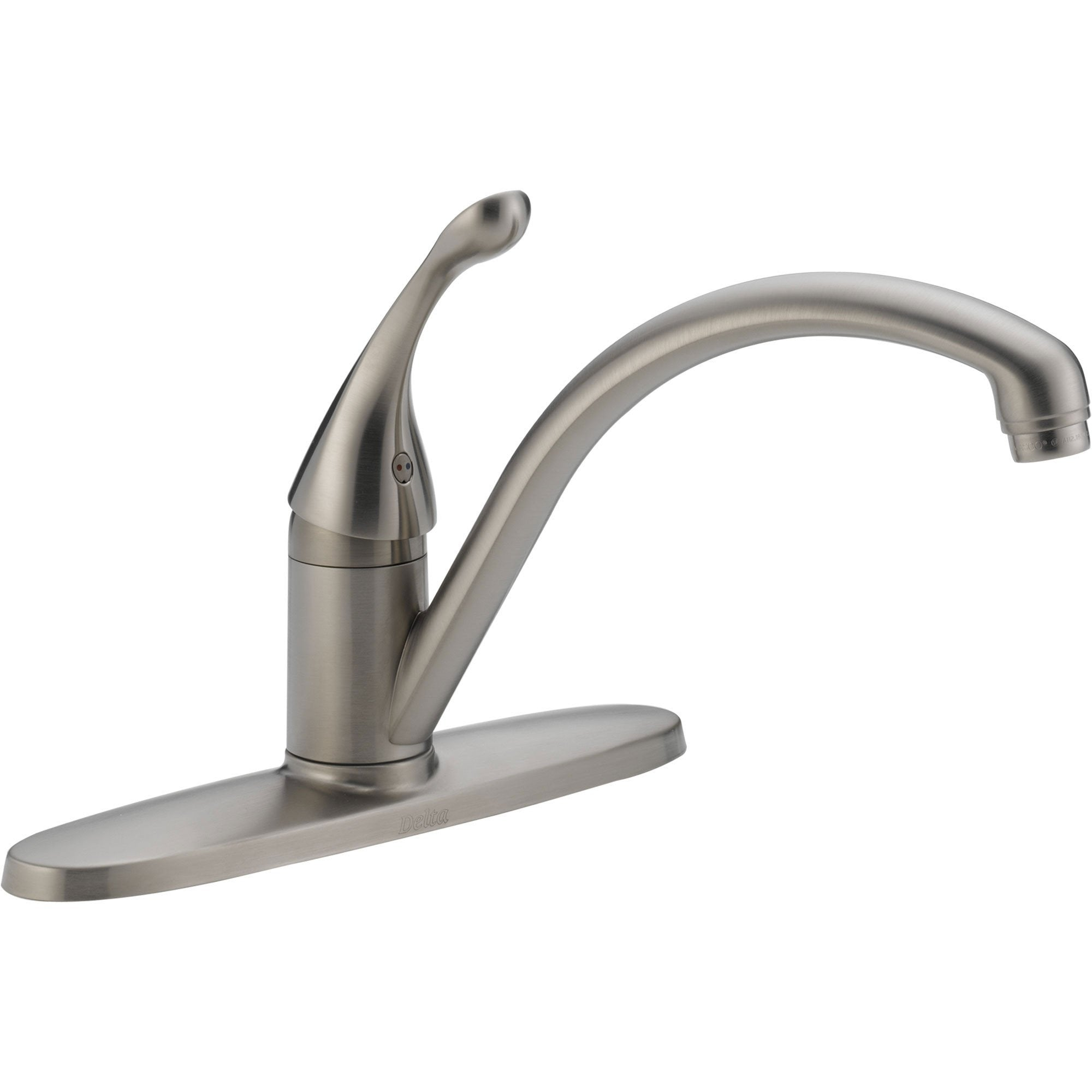 Delta Collins Lever Single Handle Kitchen Faucet in Stainless Steel 465275