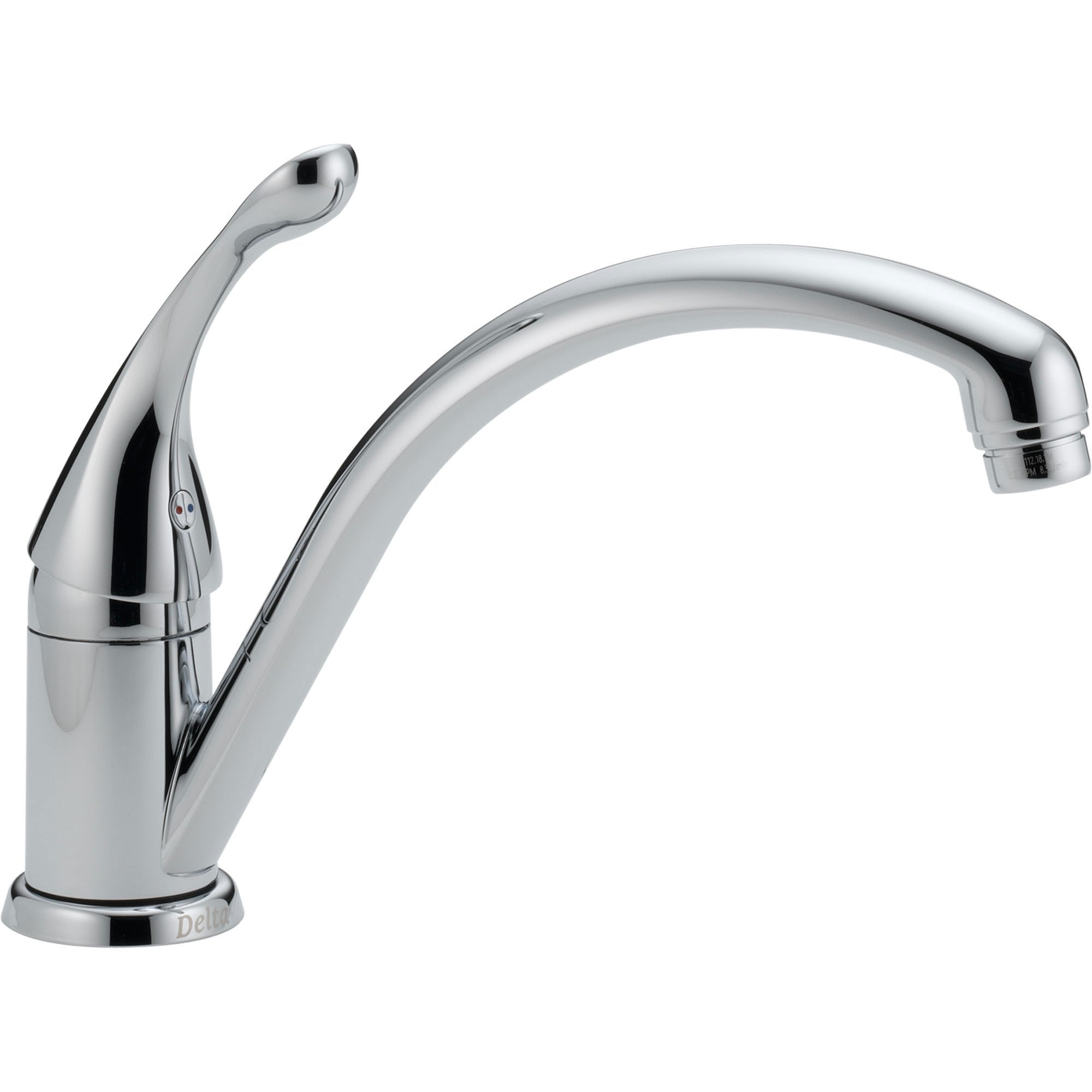 Delta Collins Single Hole One Lever Handle Kitchen Faucet in Chrome 465279