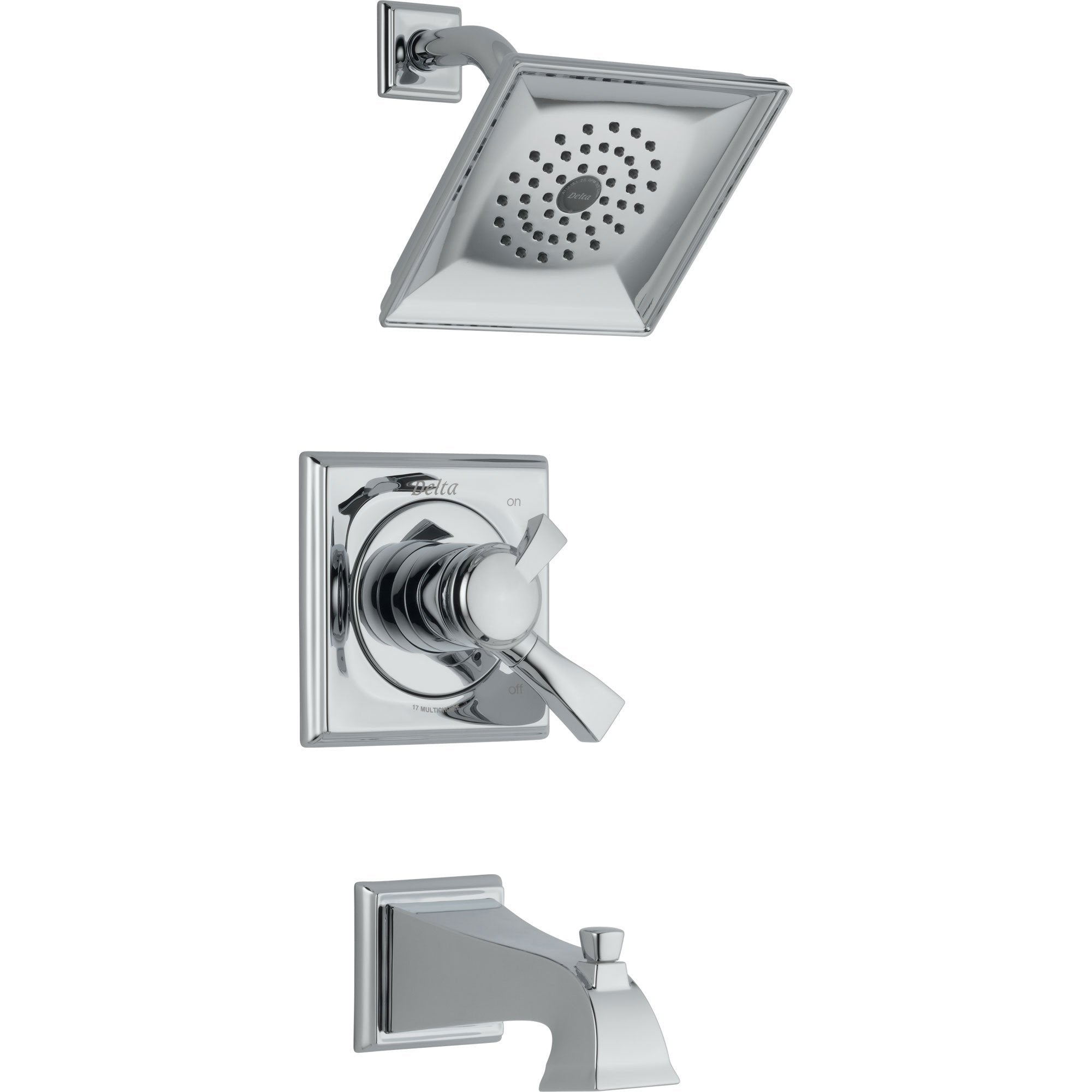 Delta Dryden Dual Control Chrome Tub and Shower Combination with Valve D417V