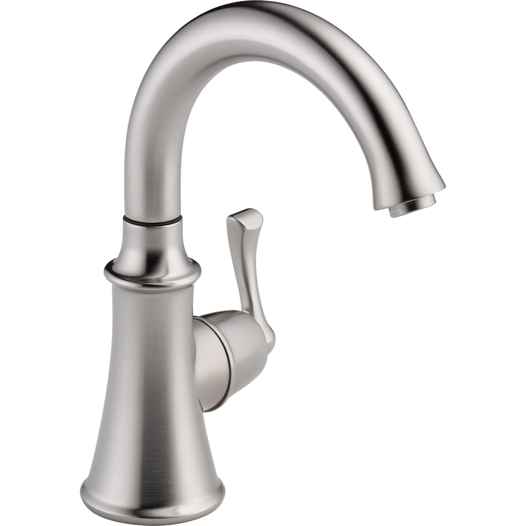 Delta Traditional Single Handle Arctic Stainless Kitchen Beverage Faucet 556044