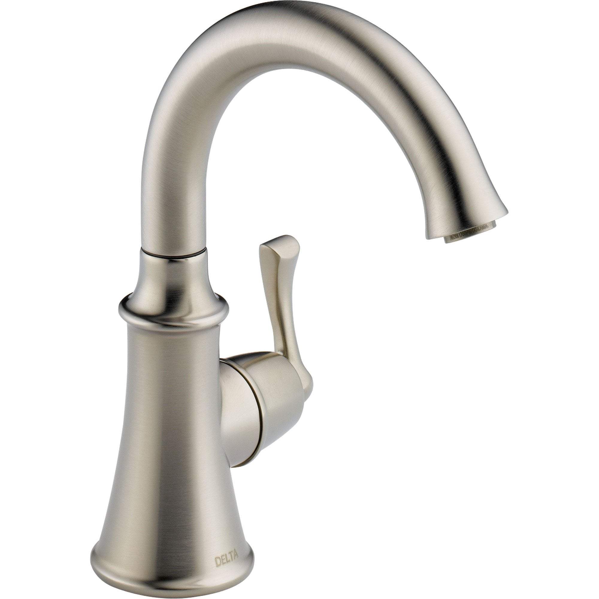 Delta Traditional One Handle Brilliance Stainless Kitchen Beverage Faucet 555924