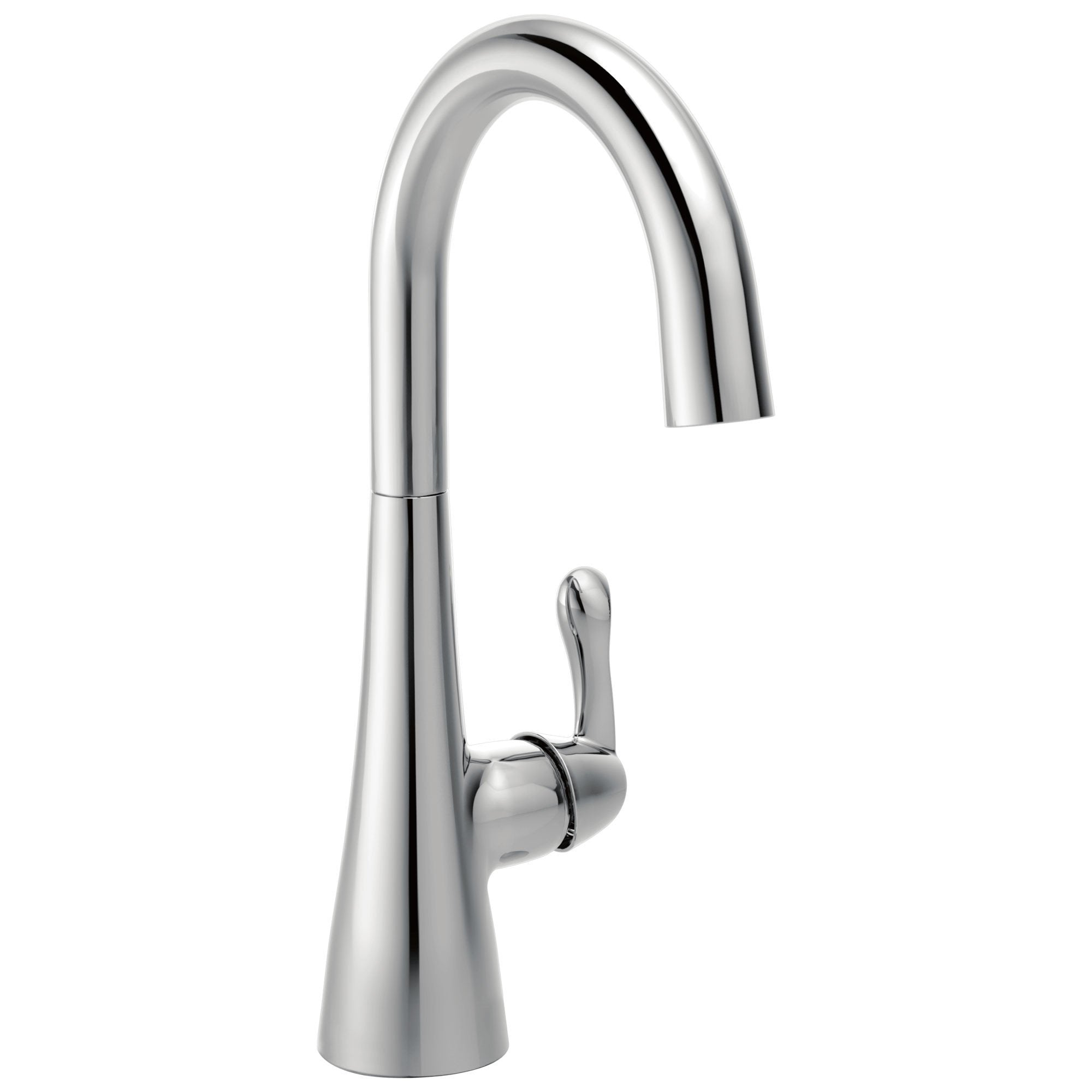 Delta Chrome Finish Single Lever Handle 360-degree Swivel Spout Contemporary Water Efficient Bar Sink Faucet 729155