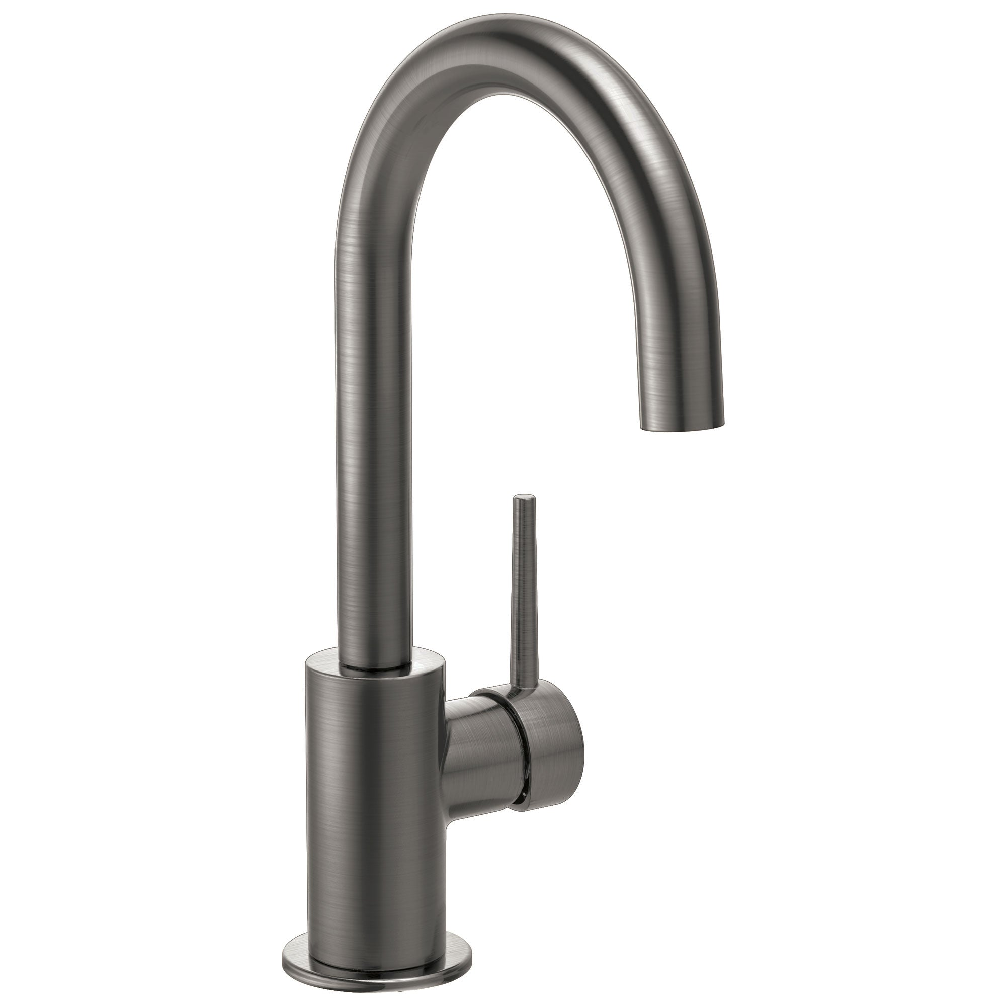 Delta Trinsic Black Stainless Steel Finish Contemporary True Bar Limited Swivel Single Hole Faucet D1959LFKS